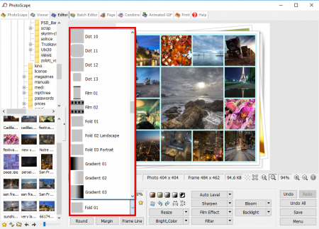 How to make a collage in PhotoScape